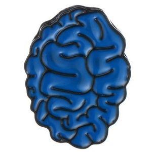 New!,Brain Enamel Pin Brooch Jewelry Blue
